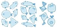 samolepky - samolepky ryby