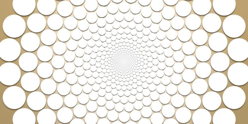 3D motiv fibonacci