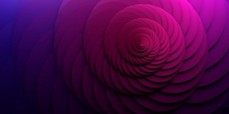 3D motiv mandala spiral #0
