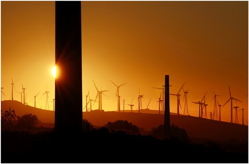 3D město mesta vetrne elektrarny