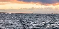 příroda - pohled na kodaň z pobřeží malmo