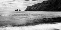 příroda - pláž u města vik na islandu