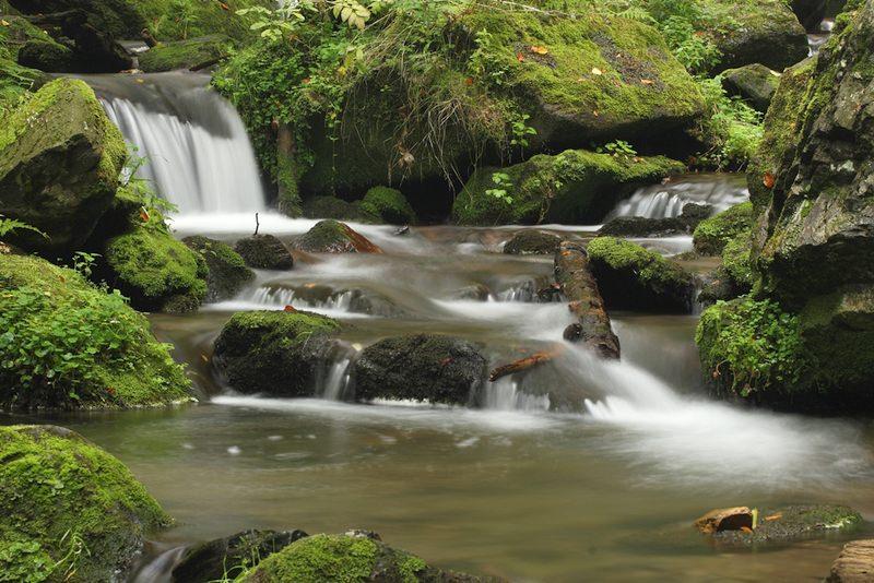 3D  priroda vodopad