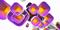 Motivy squares multibevel #3 - náhled